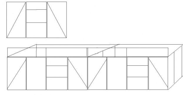 Skizze wohnhaus